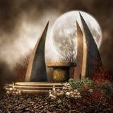 Alter Altar mit Steinen Lizenzfreies Stockfoto
