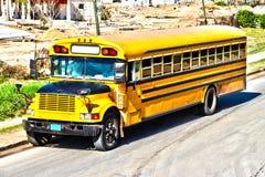 Alter amerikanischer Bus Stockfotos