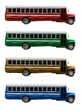 Alter amerikanischer Schulbus lokalisiert stockbild