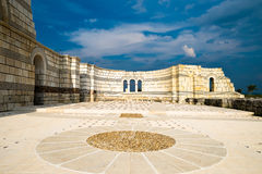 The alter of the ancient Great Basilica Pliska with arches at su Royalty Free Stock Photo