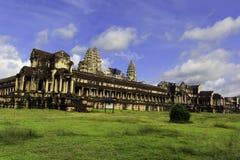 Alter Angkor Wat Ruinenplatz stockbilder