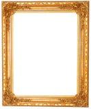 Alter antiker goldener Rahmen lokalisiert auf weißem Hintergrund Lizenzfreie Stockfotografie