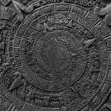 Alter antiker klassischer gewundener aztekischer Verzierungsmusterdekorations-Designhintergrund Abstraktes Beschaffenheit Fractal Lizenzfreie Stockbilder