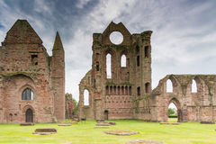 Alter Arbroath Abbey Ruins Lizenzfreies Stockbild