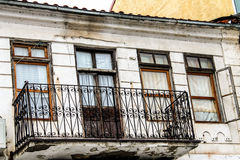 Alter Architektur-Balkon Stockfotografie