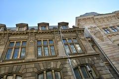 Alter Architekturabschluß oben, alte Stadt von Bukarest Lizenzfreies Stockbild