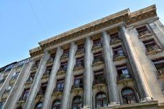 Alter Architekturabschluß oben, alte Stadt von Bukarest Lizenzfreie Stockbilder