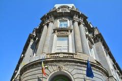 Alter Architekturabschluß oben, alte Stadt von Bukarest Lizenzfreie Stockfotos
