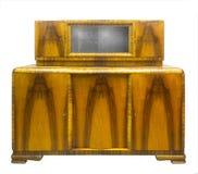Alter Art Deco-Antikenschrank, Walnuss Lizenzfreie Stockbilder