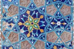 Alter asiatischer Mosaikhintergrund stockbilder