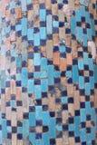Alter asiatischer Mosaikhintergrund stockfotografie