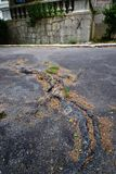 Alter Asphalt Stockfoto