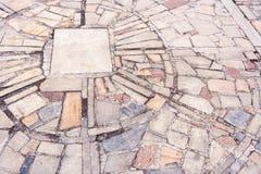 Alter außenradialstrahl der Nahaufnahme kopierte Steinboden von Steinen O Lizenzfreie Stockbilder