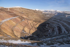 Alter aufgegebener uranium Steinbruch Stockbild