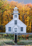Alter Auftrag-Punkt-Leuchtturm Stockbilder