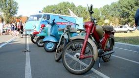 Alter Auto Fest 2014 in Kiew, Ukraine, stock footage