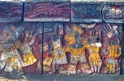 Alter Azteke Eagle Warriors Palace Templo Mayor Mexiko City Mexiko lizenzfreie stockfotos