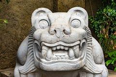 Alter aztekischer Panther-Stein-Statue Templo Bürgermeister Mexiko City Mexiko stockbild