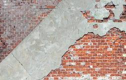 Alter Backsteinmauer-Hintergrund Stockfotografie