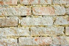 Alter Backsteinmauerhintergrund Stockbilder