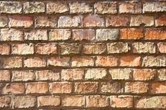 Alter Backsteinmauerhintergrund Lizenzfreies Stockfoto