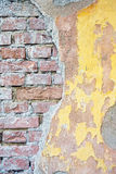 Alter Backsteinmauerhintergrund Stockfotografie