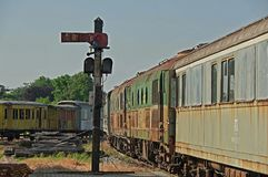 Alter Bahnhof Lizenzfreie Stockfotos