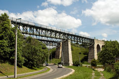 Alter Bahnviaduct Stockfotografie