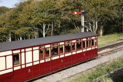 Alter Bahnwagen Stockfoto