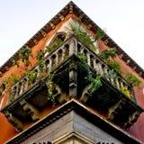 Alter Balkon Stockfotografie