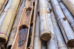Alter Bambus und Stockbambus Stockbilder