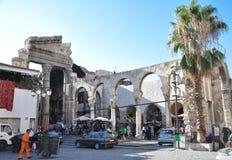 Alter Basar in Damaskus vor dem Krieg Stockfotos