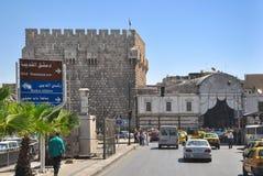 Alter Basar in Damaskus vor dem Krieg Stockbild