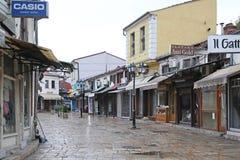 Alter Basar Skopje Stockbild