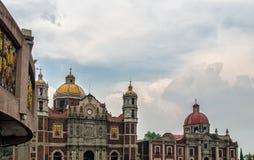 Alter Basilika-Schrein von Guadalupe Mexiko City Stockbild