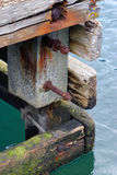 Alter Bau in dem Fjord Lizenzfreie Stockbilder