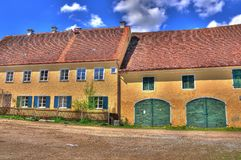 Alter Bauernhof HDR Royalty Free Stock Photography