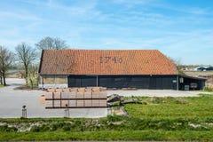 Alter Bauernhof vom Jahr 1746 Stockfoto