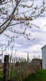 Alter Bauernhof-Zaun stockfoto