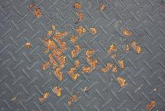 Alter Behälter rostig im braunen Farbhintergrund, alter Behälter Lizenzfreie Stockfotografie