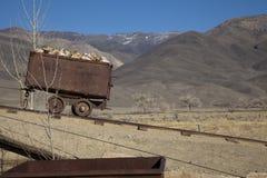 Alter Bergbau-Warenkorb Lizenzfreie Stockfotografie