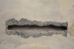 Alter Beton mit Abziehbild Stockfotografie