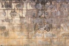 Alter Betonblockwandhintergrund Lizenzfreie Stockfotografie