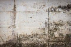 Alter Betonblockwandhintergrund Stockfoto