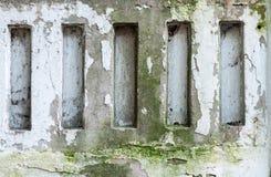 Alter Betonmauerabschluß oben für Hintergründe Lizenzfreies Stockfoto