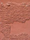 Alter beunruhigter roter Zement und Backsteinmauer Lizenzfreie Stockbilder