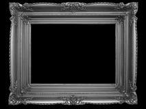 Alter Bilderrahmen auf Schwarzem Lizenzfreie Stockbilder