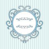 Alter blauer Seerahmen mit Linien Lizenzfreies Stockfoto