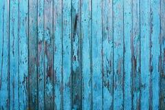 Alter blauer Zaun stockfotos