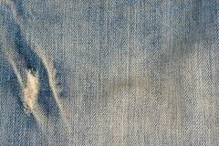 Alter Blue Jeansmusterhintergrund Lizenzfreies Stockfoto